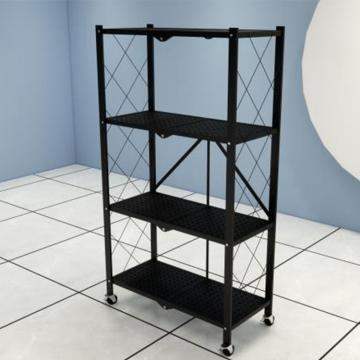 Adjustable kitchen black coating chrome wire shelf 3-tier corner storage holder shelves