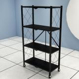 PN 5-Tier Chrome Storage Shelves; Industrial Grade Steel, NSF Approved For Commercial Use Microwave Kitchen Rack