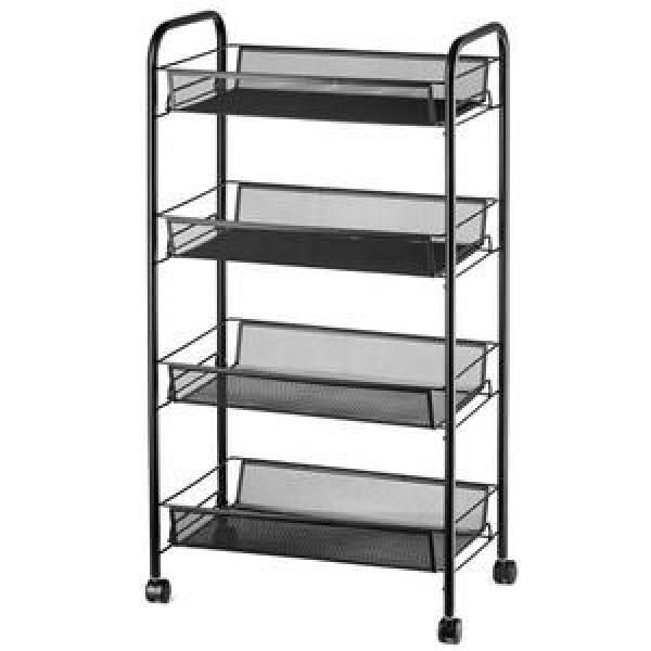 Wholesales rolling utility mesh Cart storage rack shelf #2 image