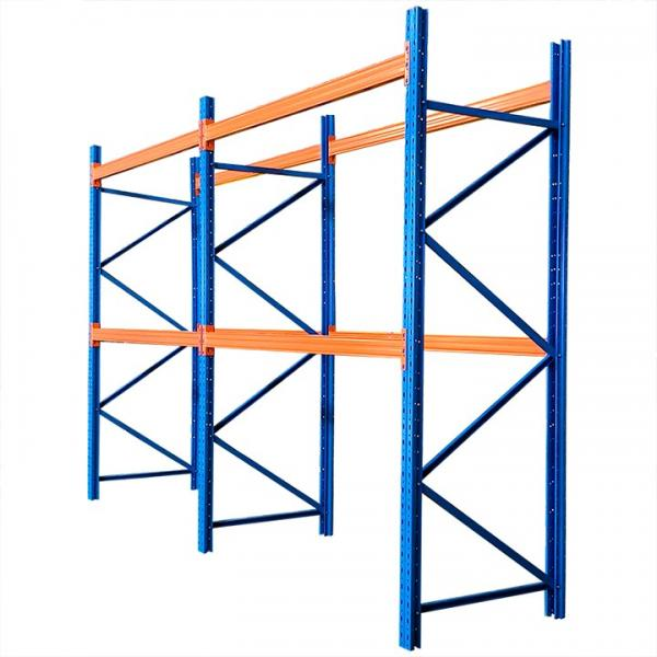 Heavy duty 4.5T per layer metal warehouse storage pallet rack for industrial #1 image