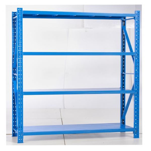 Commercial Boltless Bolt free 4 Tier Warehouse Heavy Duty Metal Shelving Unit #2 image