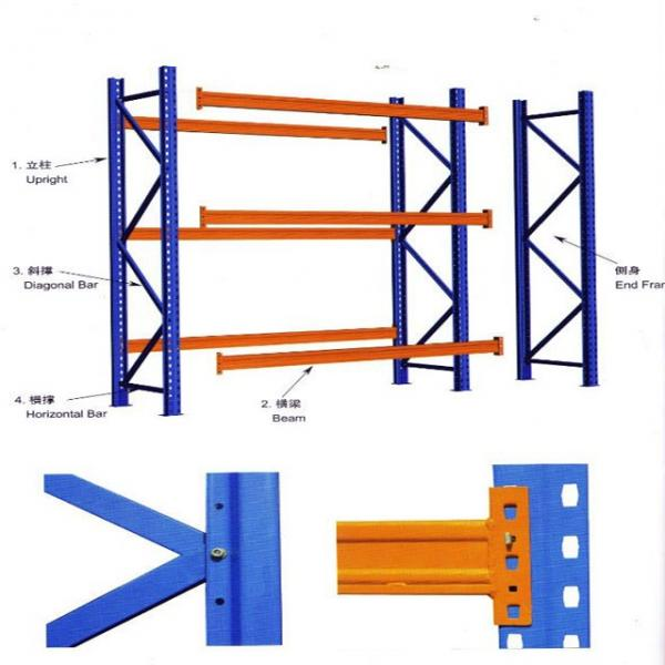 Custom-made products and 3 layers high cold rolled steel material warehouse rack #1 image