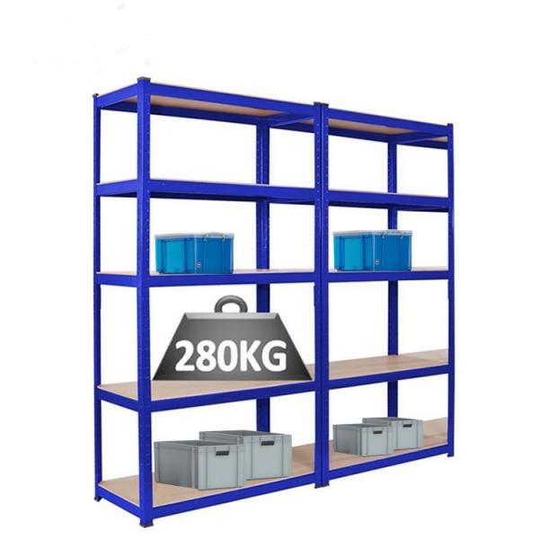 Adjusting steel shelves unit shelving light duty shelf rack with metal sheet shelf for shop or home or storage #3 image