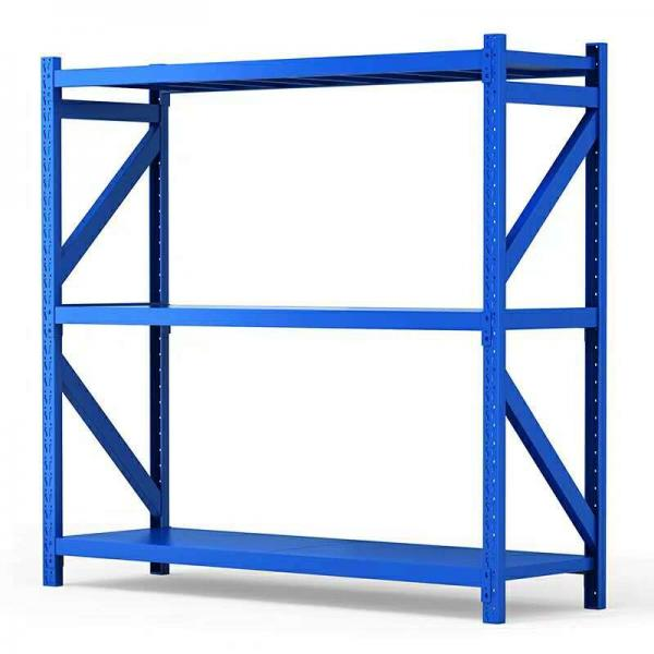Adjusting steel shelves unit shelving light duty shelf rack with metal sheet shelf for shop or home or storage #2 image